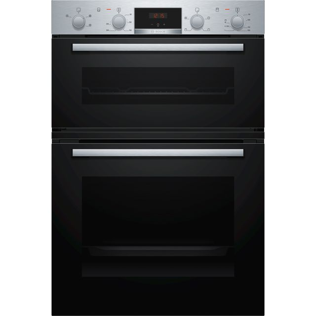 Bosch Serie 2 MHA133BR0B Built In Double Oven - Stainless Steel - A/B Rated