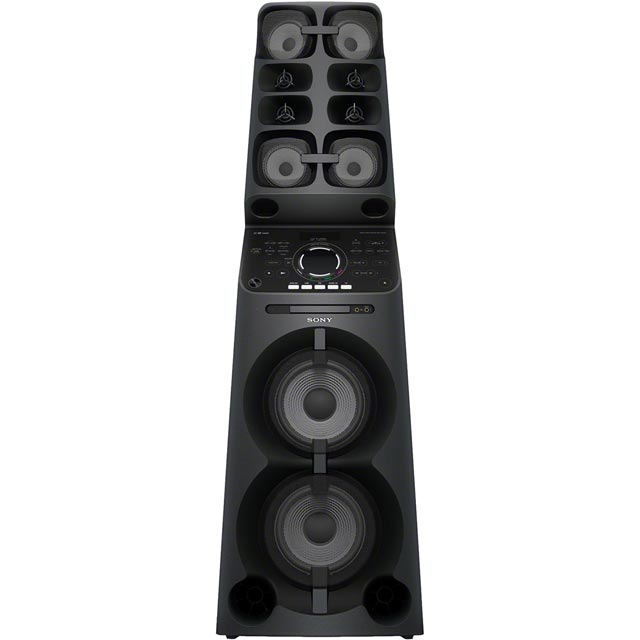Sony MHCV90DW.CEL Multiroom 2000 Watt High-res Audio Portable High Power Hi-Fi System with Bluetooth - Black
