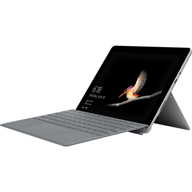 "Microsoft Surface Go 10"" 2-in-1 Laptop Includes Platinum Keyboard Cover 2018 - Silver - MHN-00002BUNPLAT - 1"