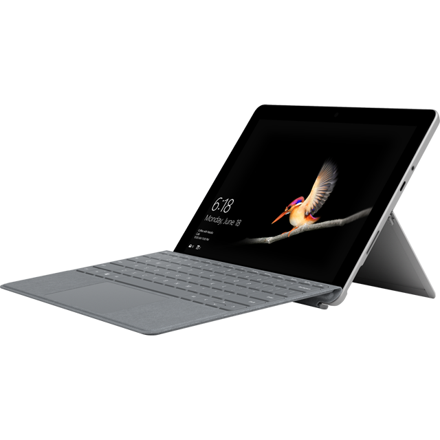 "Microsoft Surface Go 10"" 2-in-1 Laptop Includes Platinum Keyboard Cover [2018] - Silver / Platinum - MHN-00002BUNPLAT - 1"