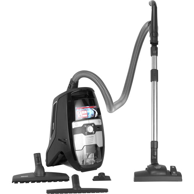 Miele Blizzard CX1 Parquet Cylinder Vacuum Cleaner in Obsidian Black