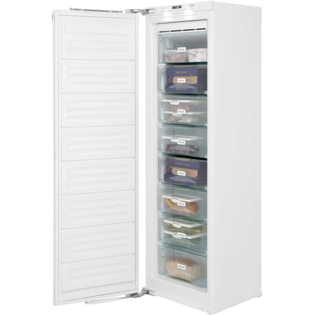 Miele FNS37402i Integrated Frost Free Upright Freezer with Fixed Door Fixing Kit - A++ Rated - FNS37402i_WH - 1