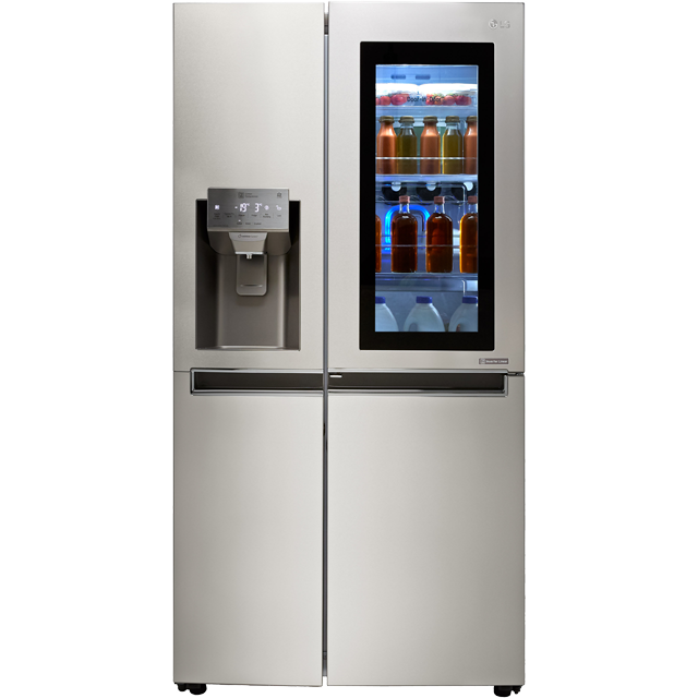 LG InstaView™ Door-in-Door™ GSX961NSVZ Wifi Connected American Fridge Freezer - Stainless Steel - A++ Rated - GSX961NSVZ_SS - 1