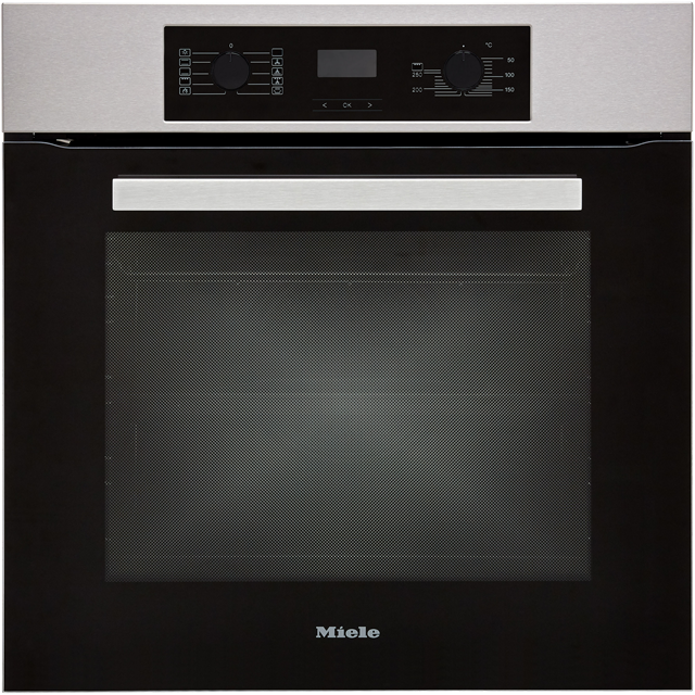 Miele Discovery H2267BP Built In Electric Single Oven - Clean Steel - A+ Rated - H2267BP_CS - 1