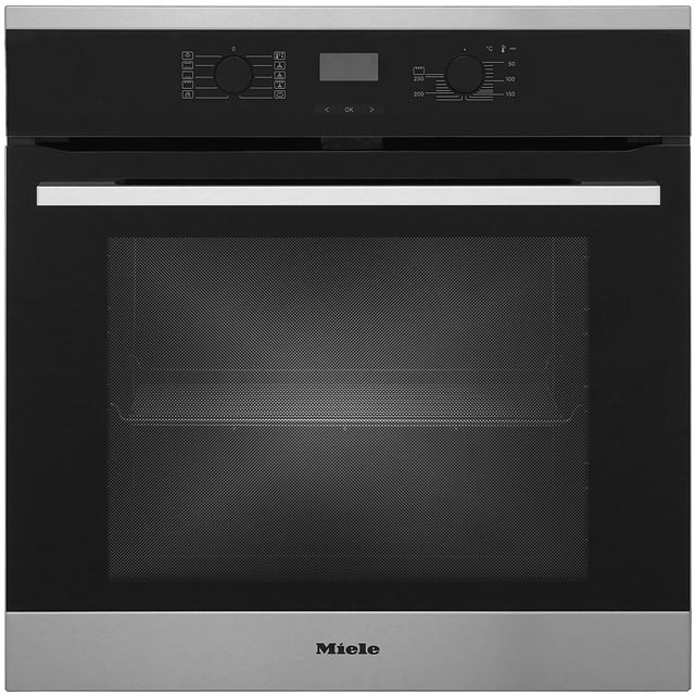Miele Discovery H2566BP Built In Electric Single Oven - Clean Steel - A+ Rated - H2566BP_CS - 1