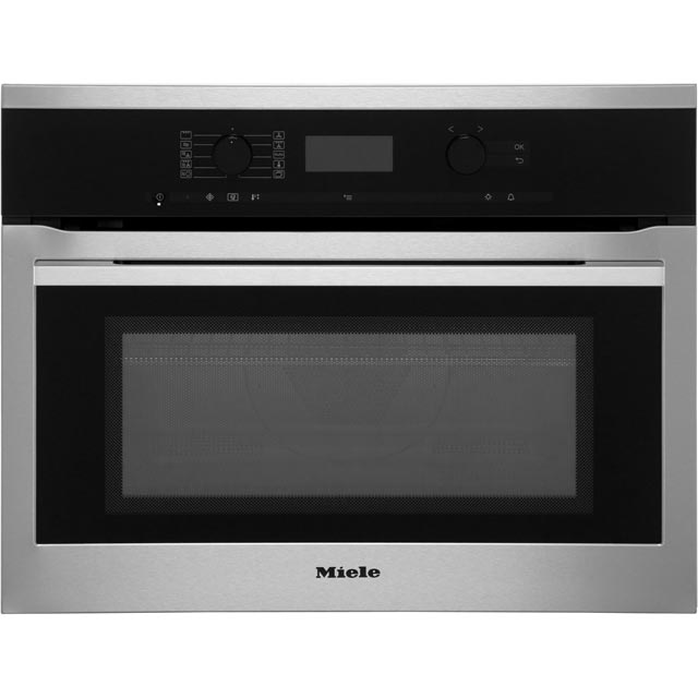 Miele ContourLine Narrow Width Built In Combination Microwave Oven - Clean Steel