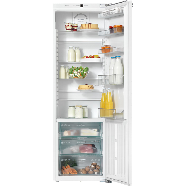 Miele K37272iD Integrated Upright Fridge - Fixed Door Fixing Kit - White - A++ Rated