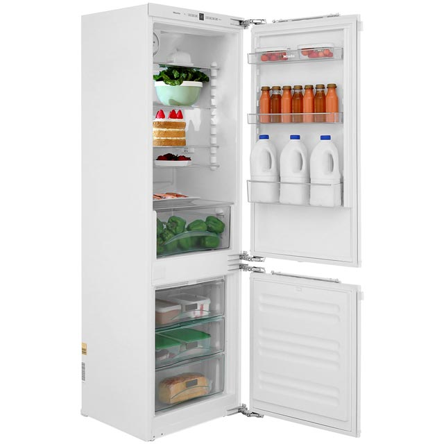 Miele Integrated 60/40 Frost Free Fridge Freezer with Fixed Door Fixing Kit - White - A++ Rated