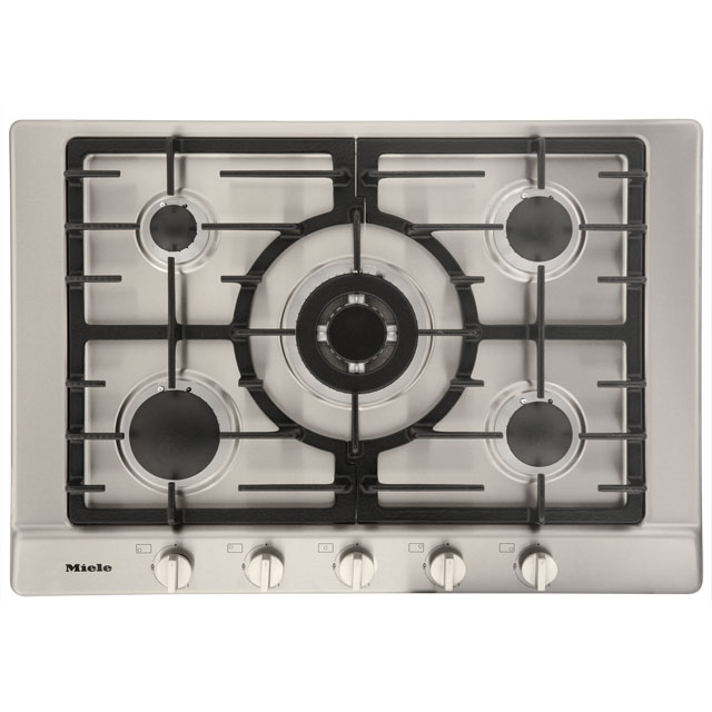 miele km2032 integrated gas hob in clean steel hobs. Black Bedroom Furniture Sets. Home Design Ideas