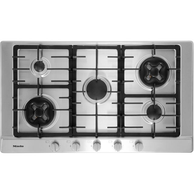 Miele KM2054 90cm Gas Hob - Stainless Steel - KM2054_SS - 1