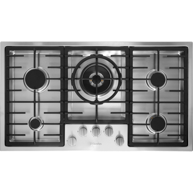 Miele KM2354 89cm Gas Hob - Stainless Steel - KM2354_SS - 1