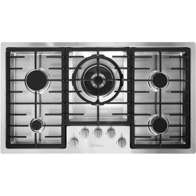 Miele KM2357 89cm Gas Hob - Stainless Steel - KM2357_SS - 1