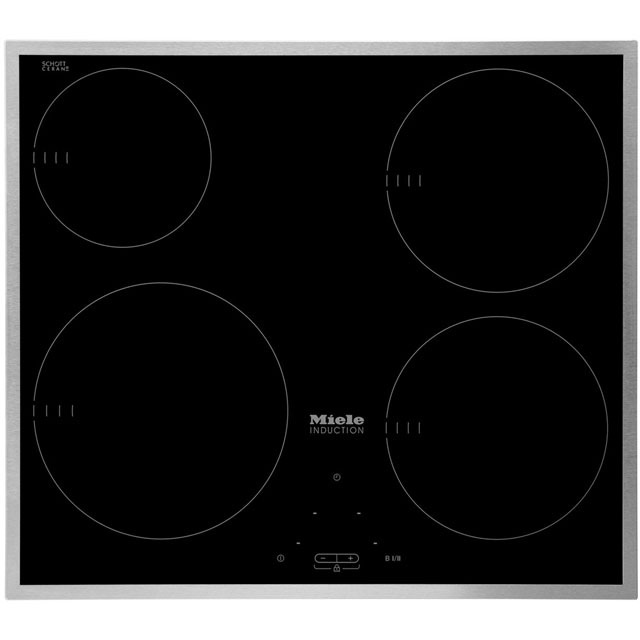 Miele KM6115 57cm Induction Hob - Black - KM6115_BK - 1