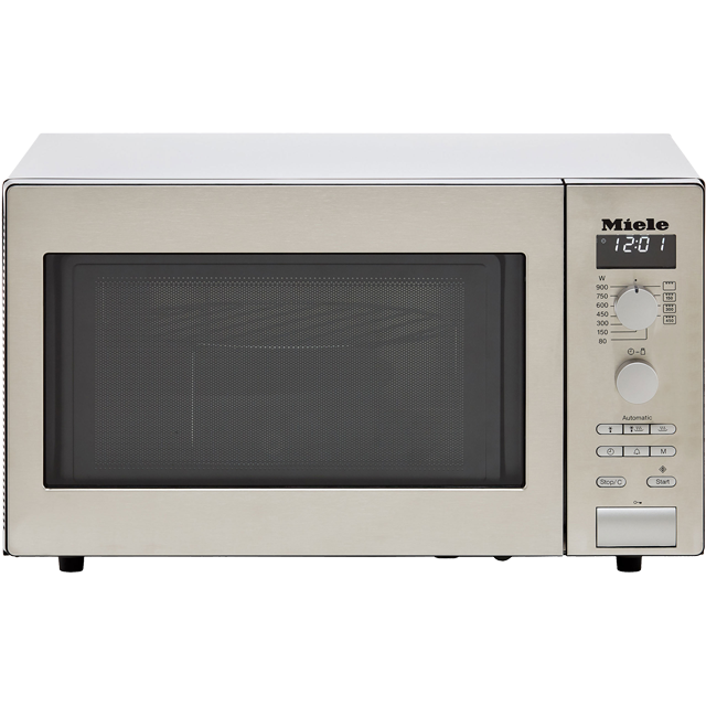 Miele M6012 26 Litre Microwave With Grill - Clean Steel - M6012_CS - 1