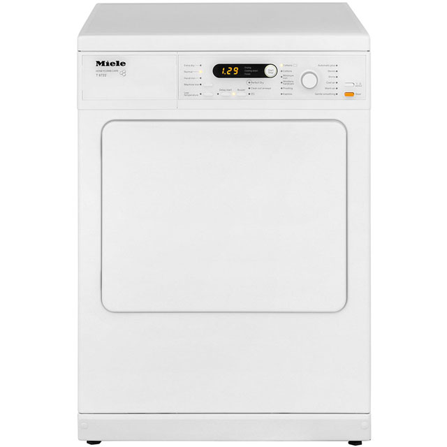 Miele T8722 Free Standing Vented Tumble Dryer in White