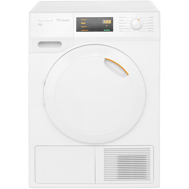 Miele T1 TDB130WP Free Standing Condenser Tumble Dryer in White