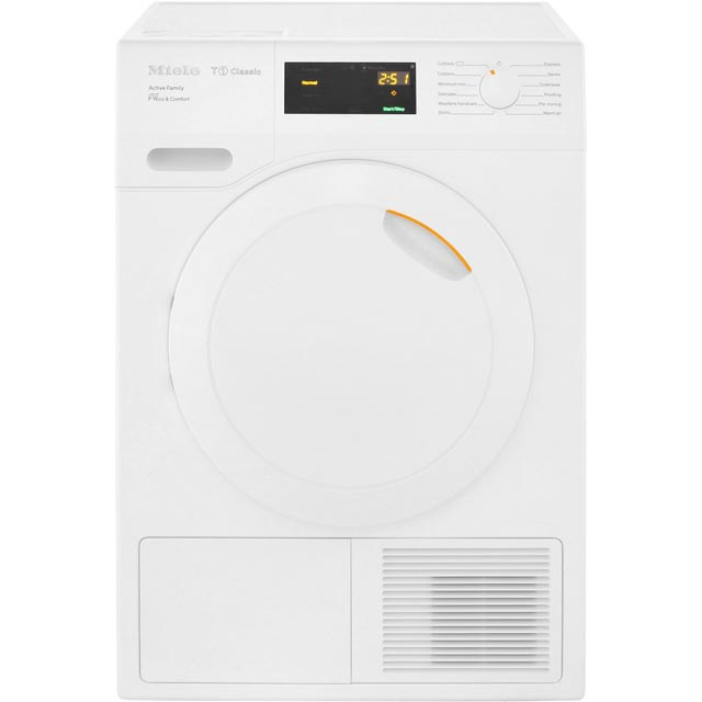 Miele T1 Active Family TDD230WP Free Standing Condenser Tumble Dryer in White