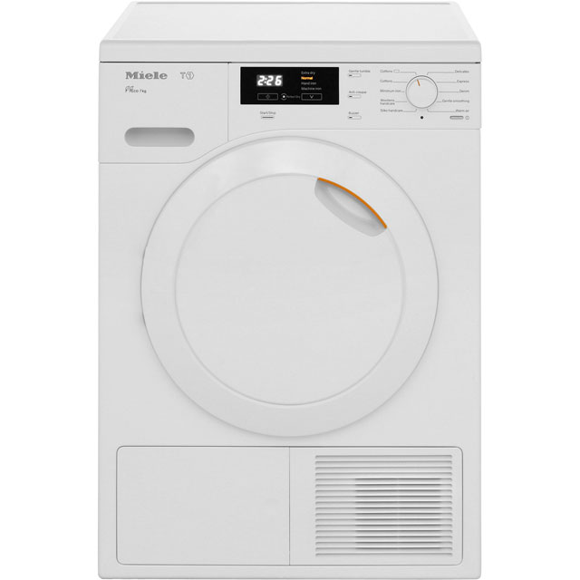 Miele T1 TKB140WP Free Standing Condenser Tumble Dryer in White