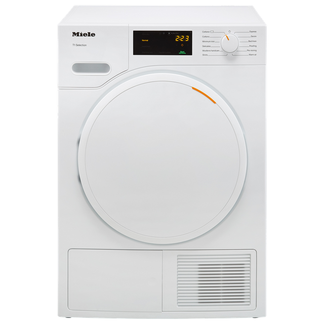 Miele T1 TSB143WP 7Kg Heat Pump Tumble Dryer - White - A++ Rated - TSB143WP_WH - 1