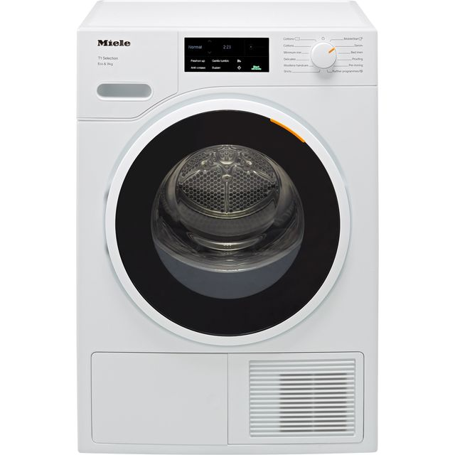 Miele T1 TSJ663WP 9Kg Heat Pump Tumble Dryer - White - A+++ Rated - TSJ663WP_WH - 1