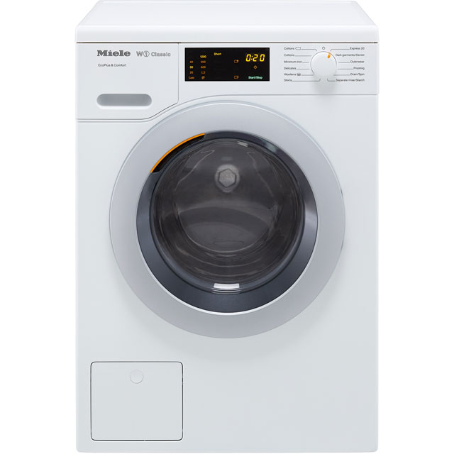 Miele W1 WDD020 8Kg Washing Machine with 1400 rpm - White - A+++ Rated - WDD020_WH - 1