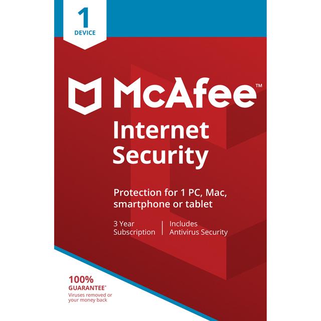 McAfee Internet Security 36 Month Digital Download for 1 Device - One Time Purchase
