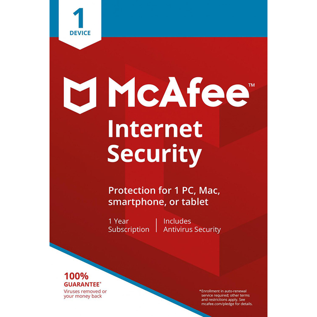 McAfee Internet Security 2017 MIS00UNR1RDD Software