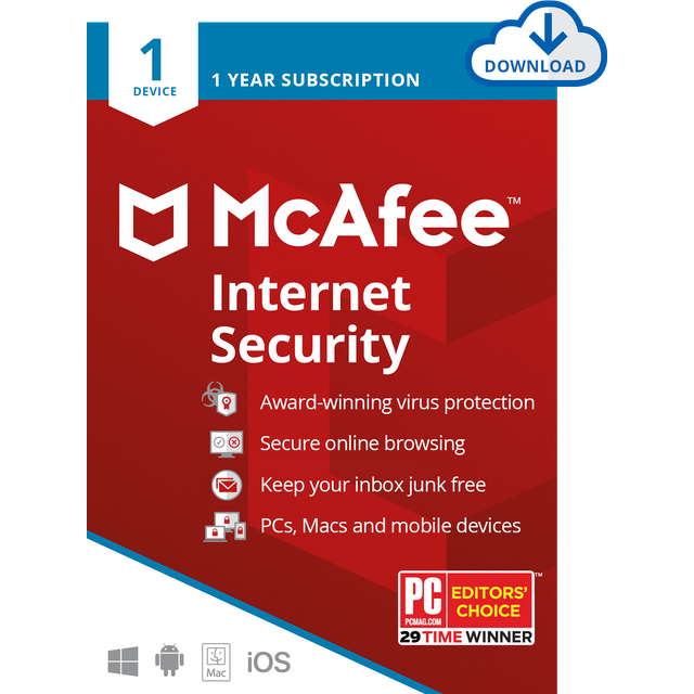 Image of McAfee Internet Security Digital Download for 1 Device