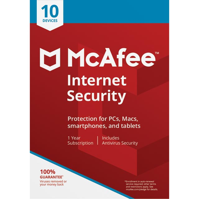 McAfee Internet Security Digital Download for 10 Devices