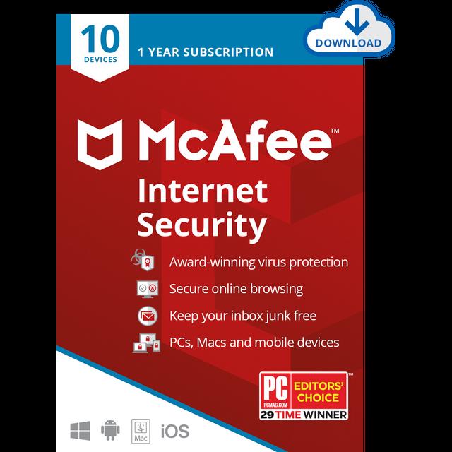 Image of McAfee LiveSafe Digital Download for 10 Devices