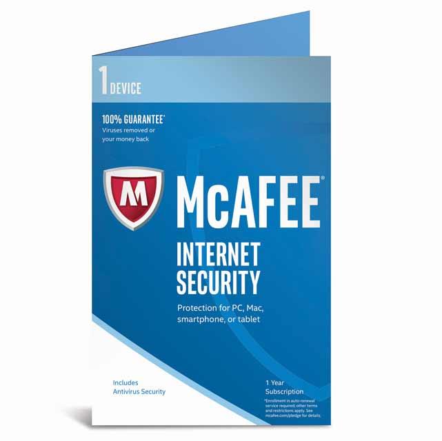 McAfee Internet Security 2017 MIS17U001RKA Software