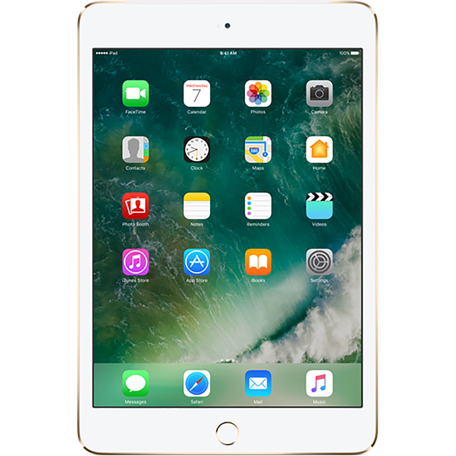 "Apple iPad Mini 4 7.9"" 128GB Wifi + Cellular - Gold - MK8F2B/A - 1"