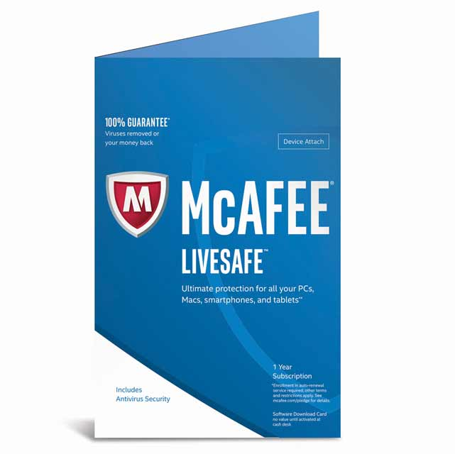 McAfee LiveSafe 2017 Digital Download for Unlimited Devices