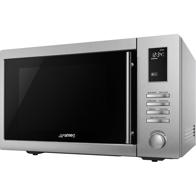 Smeg MOE34CXIUK 34 Litre Combination Microwave Oven - Stainless Steel
