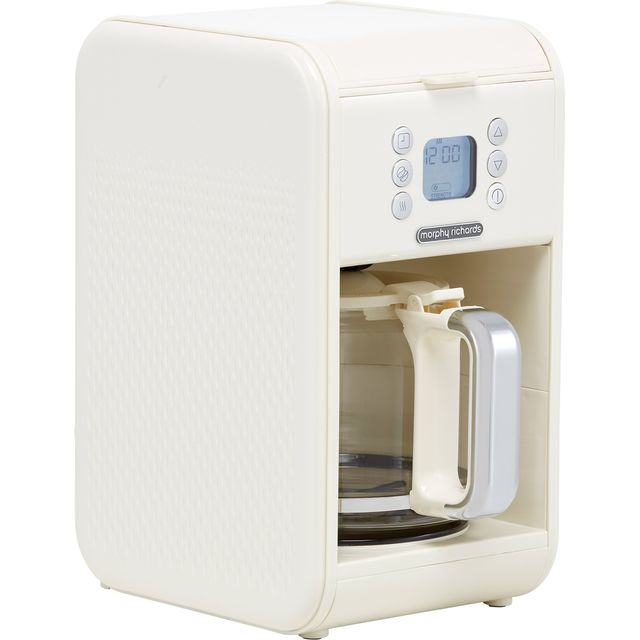 Morphy Richards Verve 163006 Filter Coffee Machine with Timer - Almond Cream
