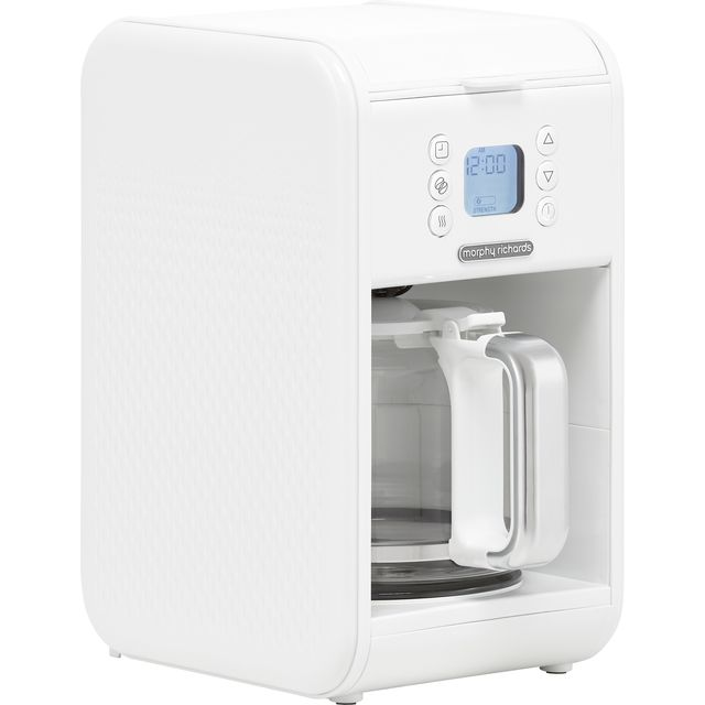 Morphy Richards Verve 163007 Filter Coffee Machine with Timer - White