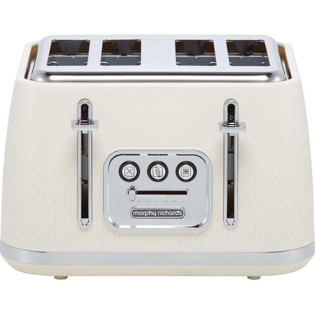Morphy Richards Verve 243011 4 Slice Toaster - Cream