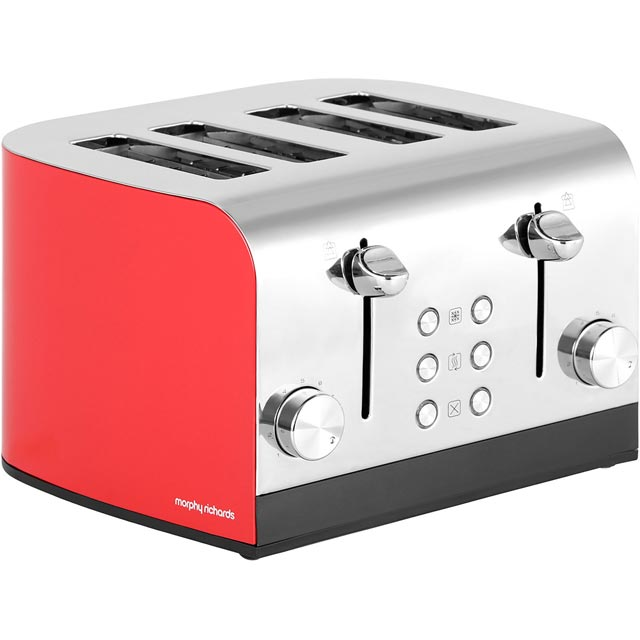 Morphy Richards Equip 241002 4 Slice Toaster - Red - 241002_RD - 1