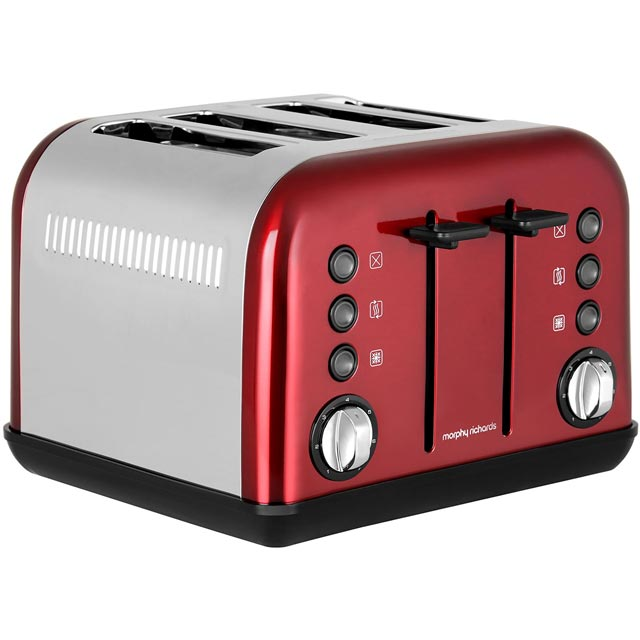 Morphy Richards Accents 242030 4 Slice Toaster - Red