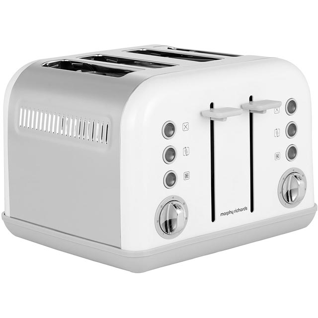 morphy richards 242032 accents 4 slice toaster white new. Black Bedroom Furniture Sets. Home Design Ideas