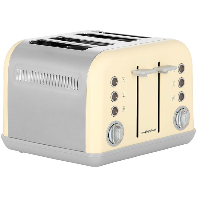 Morphy Richards Accents 242033 4 Slice Toaster - Cream
