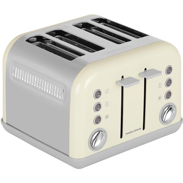 Morphy Richards Accents 4 Slice Toaster - Cream
