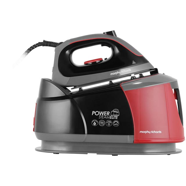 Morphy Richards Power Steam Elite With AutoClean 332013 Pressurised Steam Generator Iron - Black / Red - 332013_BK - 1