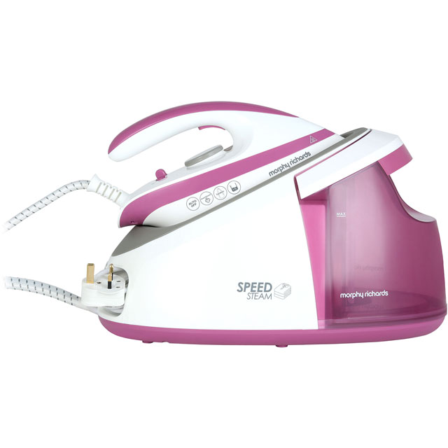 Morphy Richards Speed Steam 333201 Pressurised Steam Generator Iron - Pink / White - 333201_PWH - 1