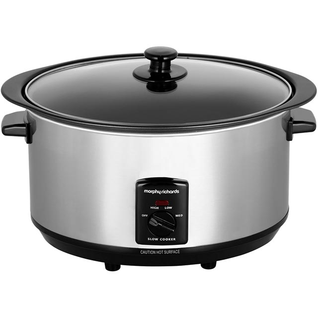 Morphy Richards Sear And Stew 48705 6.5 Litre Slow Cooker - Stainless Steel - 48705_SS - 1