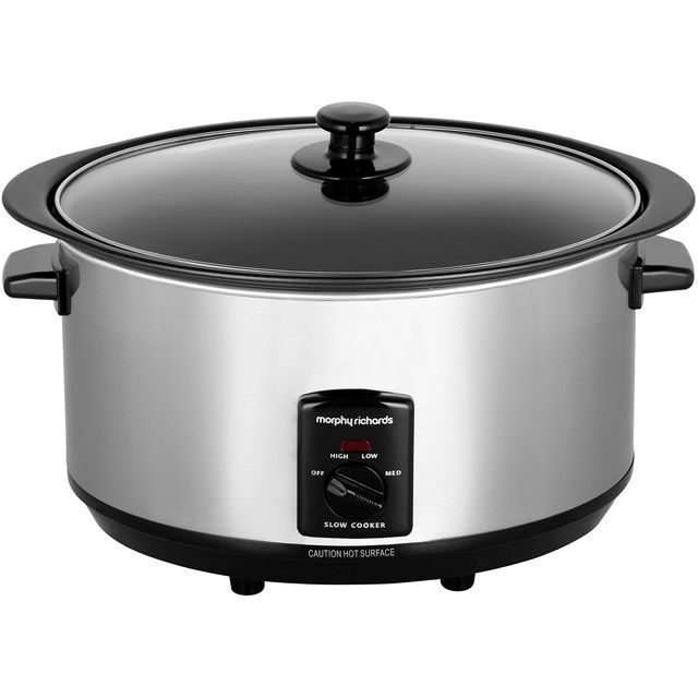 Morphy Richards 48710 3.5 Litre Slow Cooker - Stainless Steel - 48710_SS - 1