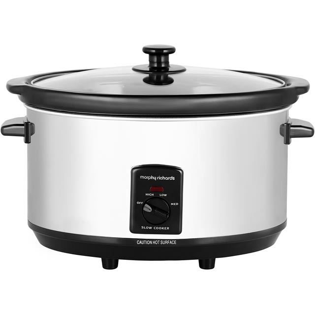 Morphy Richards 48715 6.5 Litre Slow Cooker - Stainless Steel