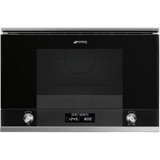 Smeg Linea MP122N1 Built In Microwave With Grill - Black - MP122N1_BK - 1
