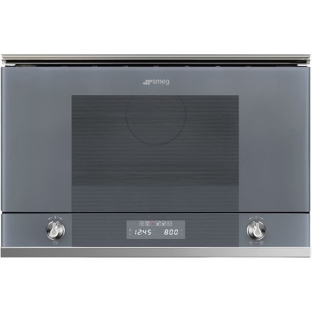 Smeg Linea MP122S1 Built In Microwave - Silver - MP122S1_SI - 1