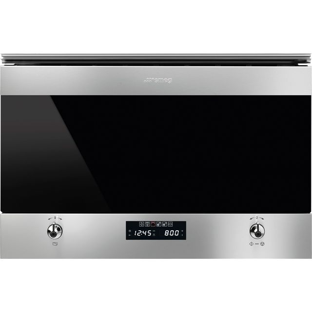 Smeg Classic MP322X1 Built In Microwave - Silver Glass - MP322X1_SG - 1